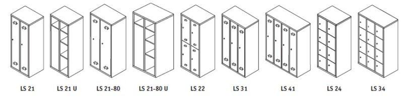 Шкафы раздевалки LS
