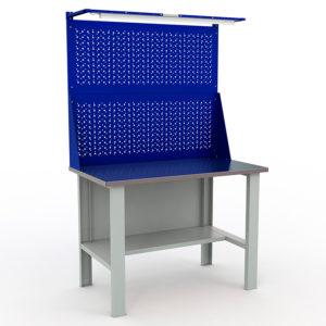 Стол (верстак) с двойным экраном и освещением