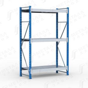 Металлические среднегрузовые стеллажи SGR-V до 500 кг на ярус